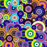 cirklar den färgrika modellen Arkivfoto