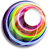 cirklar den färgrika vektorn Royaltyfri Foto