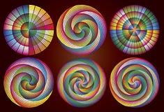 cirklar den mångfärgade regnbågen Royaltyfria Foton