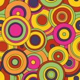 Cirklar den sömlösa modellen Vektor Illustrationer