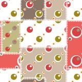 Cirklar den sömlösa modellen för patchworken dekorativ bakgrund Royaltyfri Bild