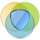 cirklar den skärande mallen vektor illustrationer