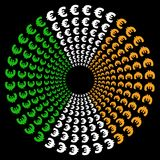 cirklar euroflaggairländare Royaltyfri Foto