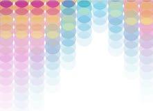 cirklar färgglatt Arkivfoto
