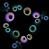 cirklar färgglatt Arkivbild