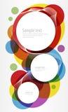 cirklar färgrik design Royaltyfria Foton