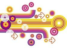 cirklar färgrika linjer Arkivbilder