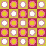 cirklar färgrika retro fyrkanter för collage stock illustrationer