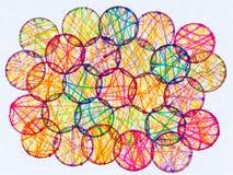 cirklar färgrikt Royaltyfri Fotografi