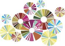 cirklar färgrikt Royaltyfri Bild