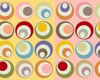 cirklar färgrikt retro för collage stock illustrationer