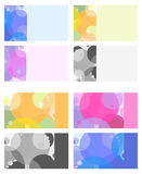 cirklar för affärskort färgade mång- Arkivfoto