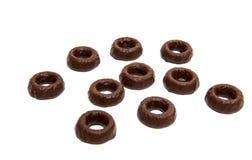 cirklar för chokladgodis Royaltyfri Foto