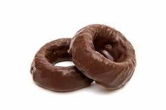 cirklar för chokladgodis Arkivbild