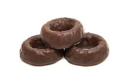 cirklar för chokladgodis Arkivbilder