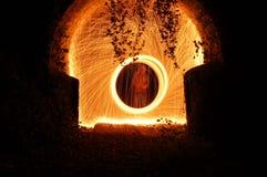 Cirklar för snurr för stålull Royaltyfria Foton