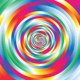 Cirklar för w för koncentrisk färgrik spiral slumpmässiga Abstrakt cirkulär p royaltyfri illustrationer