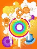 cirklar färgrikt Royaltyfri Foto