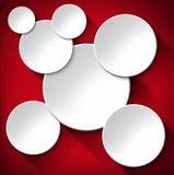 Cirklar gör sammandrag bakgrund - röd sammet Royaltyfria Bilder