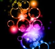 cirklar glödande llight Arkivfoto
