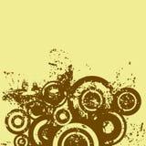 cirklar grunge royaltyfri illustrationer