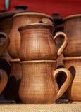 Cirklar - handgjord lera för krukmakeri Arkivbild