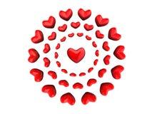 cirklar hjärta Arkivfoto