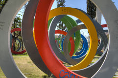 Cirklar i Cordoba, Argentina arkivfoto