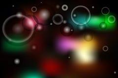 cirklar ljus bakgrund Royaltyfri Bild
