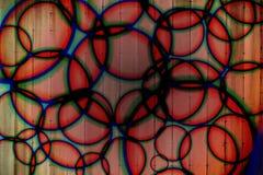 Cirklar ljus bakgrund för stroben royaltyfri fotografi