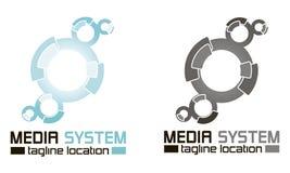 ` Cirklar `-logomallen Fotografering för Bildbyråer