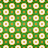 cirklar mönsan seamless Arkivbild
