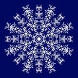 cirklar mönsan seamless Royaltyfria Bilder