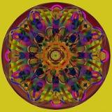 Cirklar mandalaen VANLIG OLIVGRÖN BAKGRUND Tappningbild F?rgrik design royaltyfri illustrationer