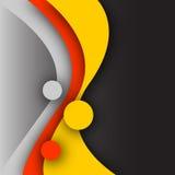 Cirklar och kurvor royaltyfri illustrationer