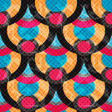 Cirklar och linjer gör sammandrag för modellvektor för geometrisk bakgrund sömlös effekt för grunge för illustration Royaltyfri Foto