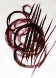 Cirklar och linjer som dras av borsten royaltyfria foton