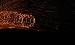 Cirklar och strålar för stålull Royaltyfri Foto