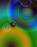 cirklar regnbågen Royaltyfri Bild