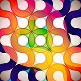 cirklar regnbågen Arkivbilder