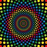 cirklar regnbågen Royaltyfria Bilder