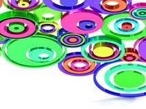 cirklar regnbågen Royaltyfria Foton
