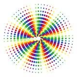 cirklar regnbågewhite Arkivfoton