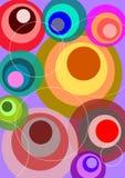 cirklar retro Arkivfoton