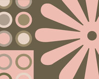 cirklar retro collage Arkivfoto