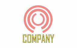 Cirklar rundar logo Royaltyfri Fotografi
