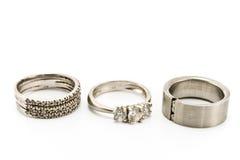 cirklar silver tre Royaltyfri Fotografi