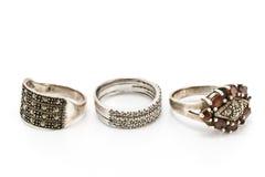 cirklar silver tre Royaltyfri Foto