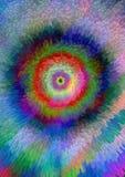 Cirklar som utbildas av fyrkantiga kvarter för färg Fotografering för Bildbyråer