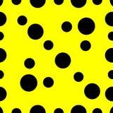 Cirklar sprider blänker gul abstrakt bakgrundstext för geometri stock illustrationer